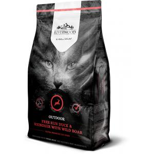 Riverwood Cat Outdoor Ankka, poro ja villisika, 2 kg