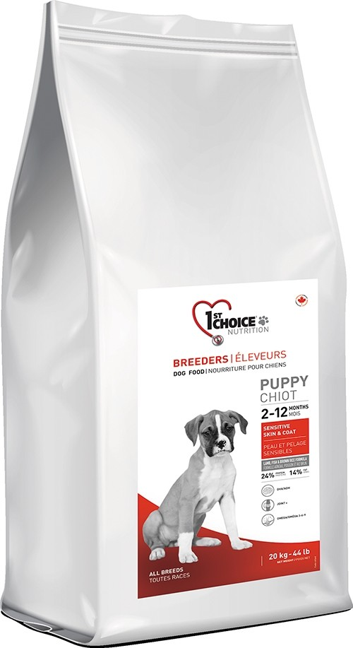 20 kg BREEDER'S 1st Choice Puppy Sensitive Skin & Coat