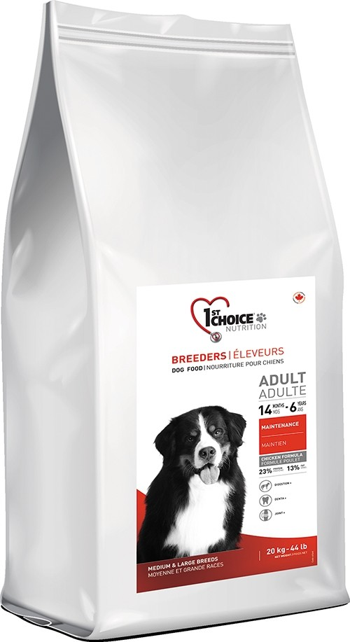 20 kg BREEDER'S 1st Choice Adult Medium & Large