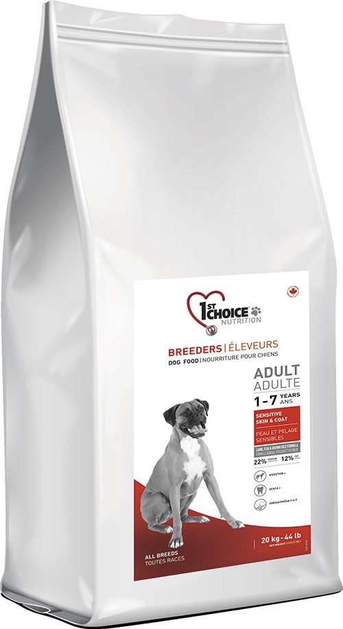 20 kg BREEDER'S 1st Choice Adult Sensitive Skin & Coat