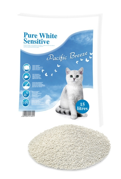 Pure White Sensitive Pacific Breeze -kissanhiekka, 13 kg