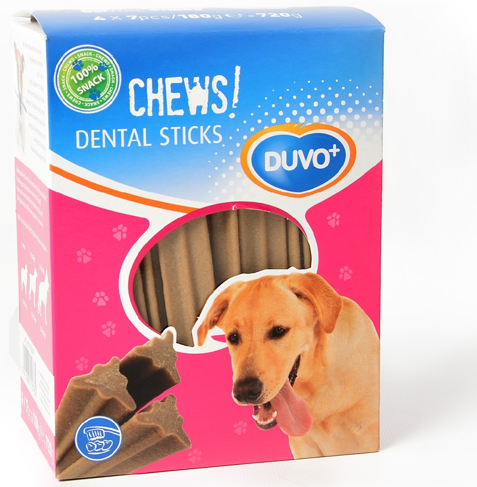 Duvo+ Soft Chews! Dental Sticks -hammashoitoherkut, 12 cm x 28