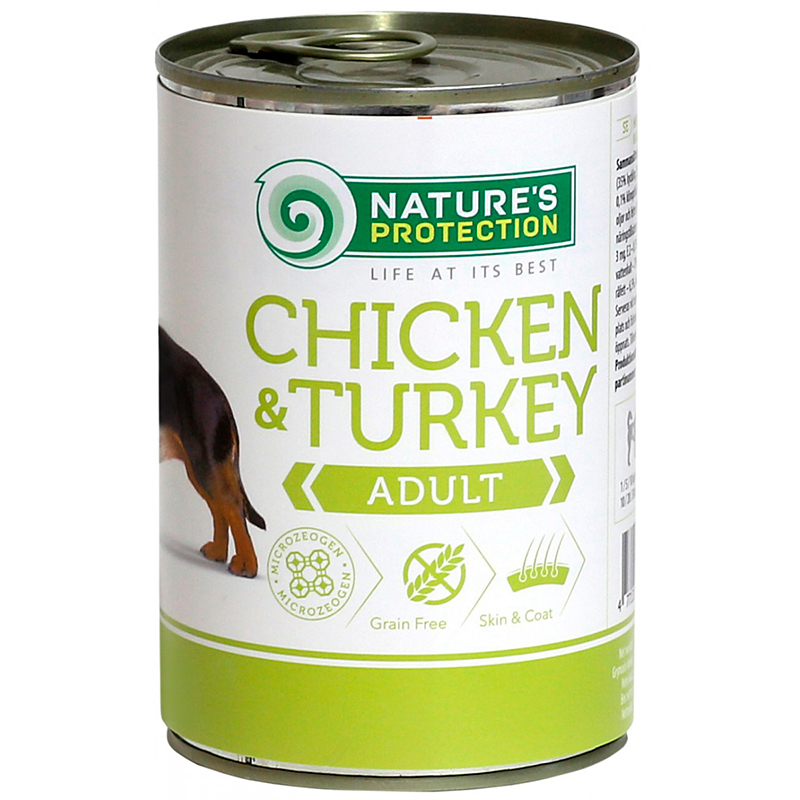 Nature's Protection Dog Adult Kana&kalkkuna, säilyke 400 g