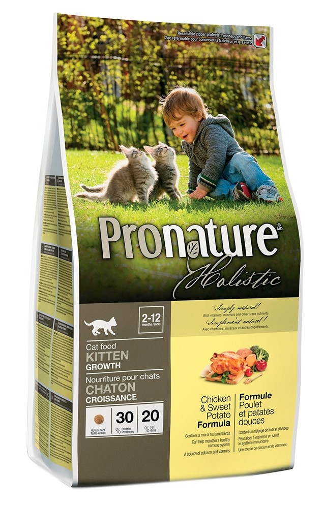 Pronature Holistic kana & bataatti, KITTEN kissalle 340g
