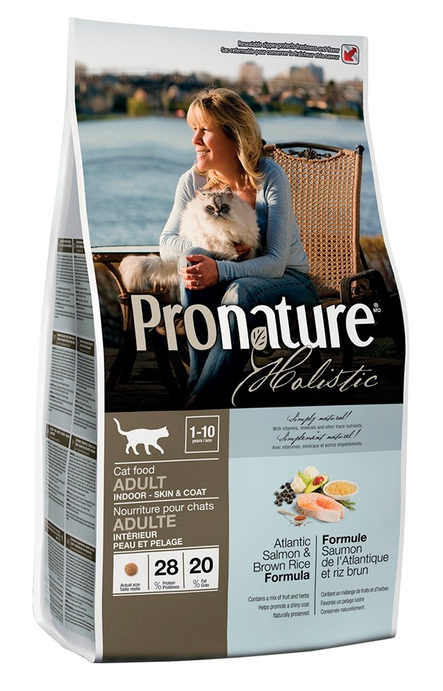 Pronature Holistic Atlantin lohi & tumma riisi, kissalle 340g