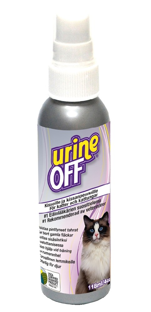 Urine Off Cat & Kitten -puhdistussuihke, 118 ml