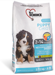 2 X 1st Choice Puppy Medium & Large 15 kg
