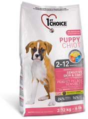 1st Choice Puppy Sensitive Skin & Coat 2,72 kg